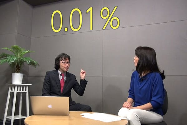 現在、メガバンクの定期預金金利は全て0.01%で横並びに。普通預金に至っては0.001%だ
