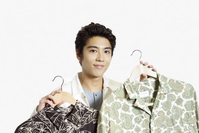 賀来賢人さんがハワイで購入したという古着のアロハシャツ。「古着なので、そんなに高くないのも魅力」という