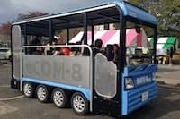 豊島区は池袋エリアで19年にもEVバスの運行を始める(写真は4月末の試乗会で使用した車種)