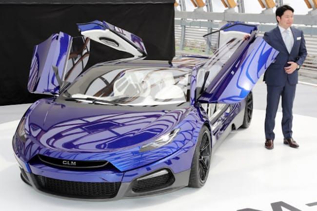GLMが開発中のEVスーパーカー「G4」と小間氏