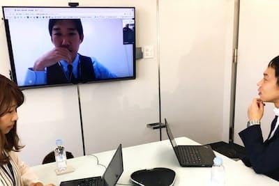 オンライン会議は短時間で集中できる(東京都渋谷区のSansan)