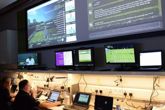2016年のウィンブルドン選手権ではコグニティブ・ソーシャル・コマンド・センターを活用。ファンがネット上で発した言葉を分析して、チケット販促などに活用した(写真:IBM)