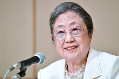 春の叙勲で「旭日小綬章」を受章した佐藤愛子さんの記者会見