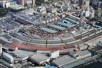 築地市場の移転時期が焦点となる(東京都中央区)