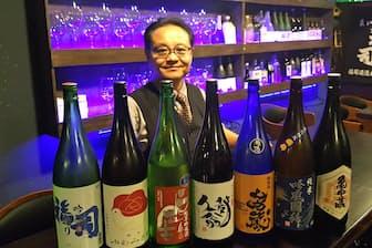 「北海道産酒BAR かま田」の店主、鎌田孝氏は酒匠の資格を持ち、道産酒に詳しい(札幌市)
