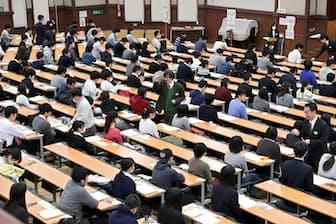 専門職大学ができると受験の風景も変わるかもしれない(東京大学で行われた大学入試センター試験)