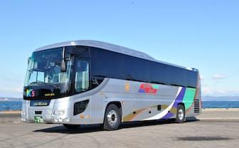 全国9社の観光バス事業者が連携する(写真は香川県を本拠とする琴平バス)