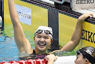 2016年リオ五輪に高校生で出場した(代表入りを決めた同年4月の競泳日本選手権)