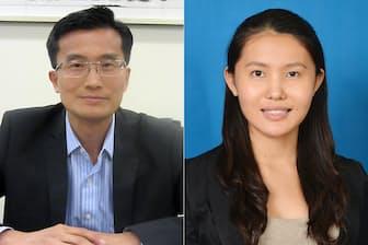 UOBケイヒェン証券のスティーブン・リョン氏(写真左)とHSBCグループのジュリア・ワン氏(写真右)