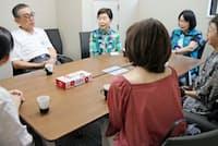 公益社では月に1度遺族会を開催している(7月中旬、大阪市北区)
