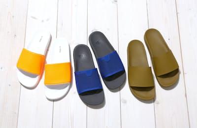 街履きでも違和感のないスライドサンダルが増えている