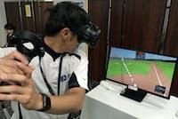 VRを使って体の動きをモニタリングし、トレーニングに生かすこともできる