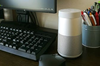 BOSEが4月28日に発売した「SoundLink Revolve Bluetooth speaker」。スマホやパソコンとBluetoothでつながる小型のスピーカーで、周囲360度に音が広がる