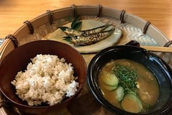 「ふるさと料理 杉の子」の冷や汁はJR九州の豪華寝台列車「ななつ星in九州」でも提供される