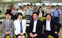 座談会の参加者とFun Japan Communicationsのみなさん。手前の座談会参加者は、左から高木研太郎(アクセンチュア)、秦純子(同)、藤井大輔氏(Fun Japan Communications)、稲川直樹氏(同)