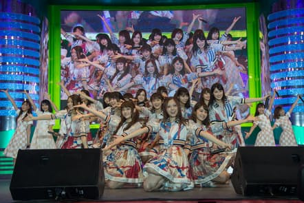 TOKYO IDOL FESTIVAL 2017 8月4日から6日まで3日間、東京・お台場と青海周辺エリアで開催された。写真は乃木坂46のステージ。
