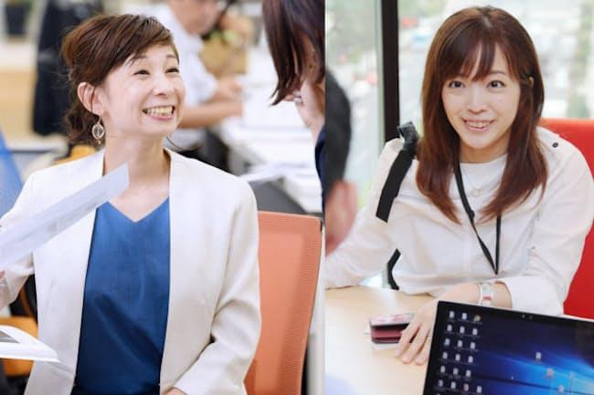 大手からベンチャー企業に活躍の場を移したプログレス・宮本久美子さん(左)とビットフライヤー・金光碧さん