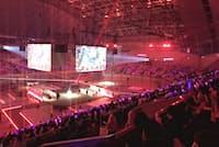 オンライン対戦ゲーム「リーグ・オブ・レジェンド」の日本リーグ決勝戦(8月26日、幕張イベントホール)