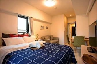 「賃貸住宅」といっても家具や家電を備えており、リネン交換や掃除のサービスもついている