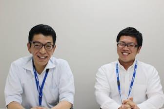 人事部労務グループシニア・チーム・マネジャーの青木勝彦さん(左)と伊藤祐樹さん(右)
