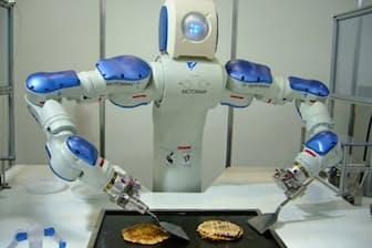 お好み焼きをつくるロボット