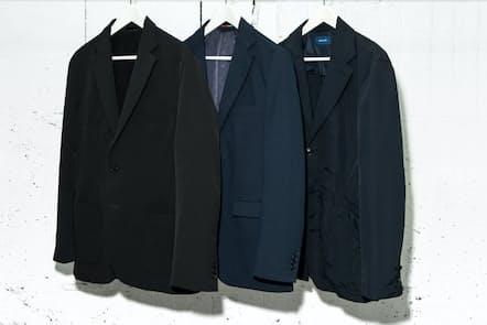 ストレッチ、防シワ、パッカッブルという3種類の高機能ジャケットを紹介する