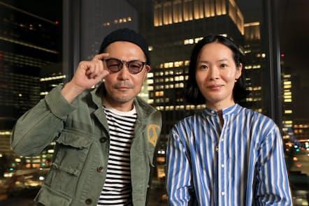 クリエイティブディレクターの鈴木哲也さん(左)とファッションスタイリストの清水奈緒美さん