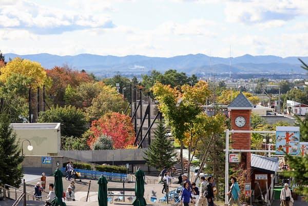 9月になり日本最北の旭山動物園は紅葉が始まっている(桜井省司撮影、提供:株式会社LEGION)
