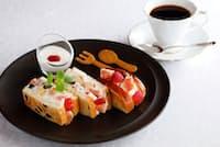 資生堂パーラー サロン・ド・カフェ「フルーツサンドウィッチ」(1630円、ドリンクセットは+570円)