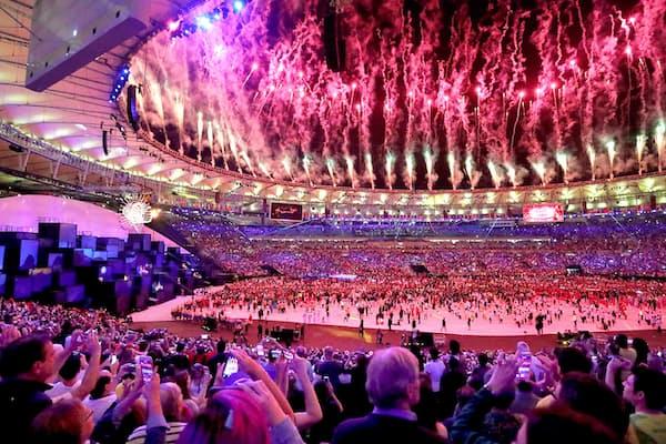 華々しく始まったリオ五輪の舞台裏では、激しいサイバー攻防が繰り広げられていた(2016年8月の開会式)