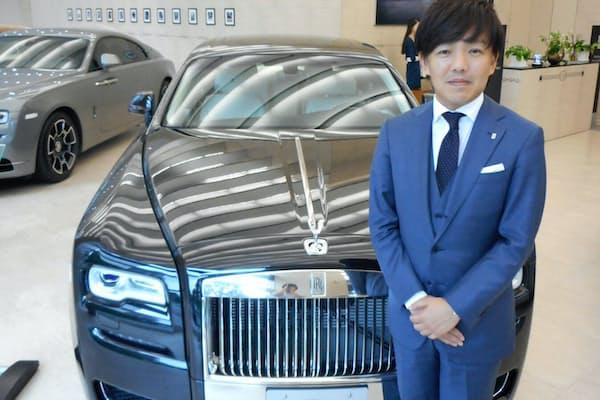 尾崎さんは居心地の良いセールスを心がける(東京都港区のロールス・ロイス・モーター・カーズ東京)