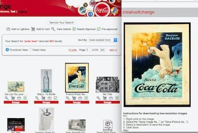 米コカ・コーラはポスターなどの画像を検索・利用できるアーカイブを構築
