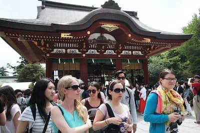 訪日外国人のニーズは多様化している(神奈川県鎌倉市の鶴岡八幡宮)