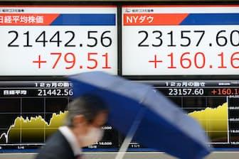 足元では日米同時株高が続いている(10月19日)