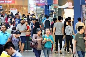 個人消費がフィリピンの成長をけん引している(マニラの商業施設)