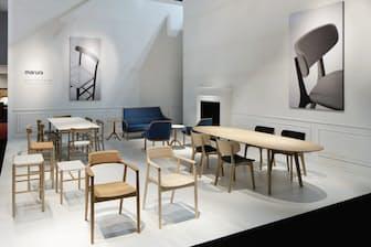 マルニ木工のマルニコレクション。デザイナーの深澤直人氏をアートディレクターに迎えた製品群。今や同社の売り上げの35%を占める