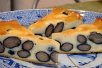雪岡市郎兵衛洋菓子舗の「丹波黒豆のチーズケーキ」はたっぷりの黒豆とクリームチーズの味のバランスを工夫した