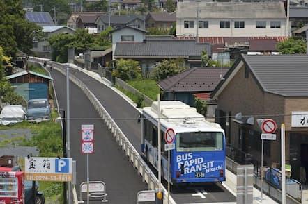 BRTは有力な公共交通として地方自治体に広がりつつある(茨城県日立市)