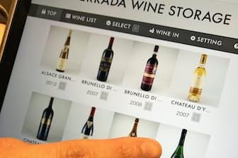 保管ワインリストを見ながら飲みごろを考えるのも楽しい