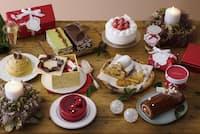 パティスリー キハチは「Winter Wonderful Land」をテーマに、新作7種類を加えた全9種類。うち、2種類が指定店舗限定のクリスマスケーキだ