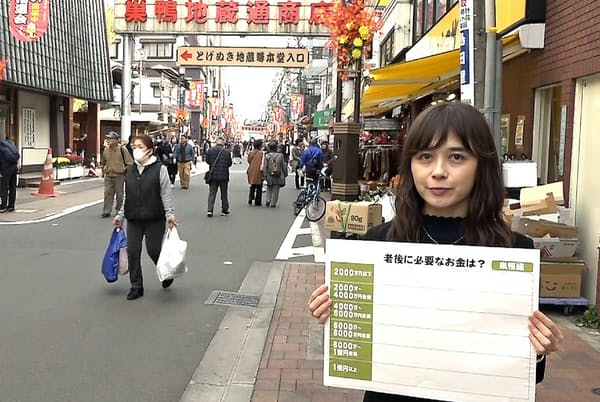 お年寄りでにぎわう東京・巣鴨でアンケートを実施した