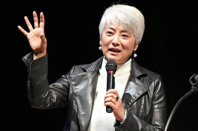 講演する大阪市立大学大学院の永田潤子准教授