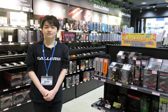 山本さんは自らがプロゲーマーであることはあまり明かさずに接客するという
