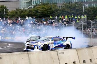 2017年9月30日~10月1日に東京都・台場特設コースで開催されたドリフト競技の世界大会「FIAインターコンチネンタル・ドリフティング・カップ」。世界に先駆けて競技化が進んだことなどからドリフトは日本が発祥とされ、第1回の会場に選ばれた