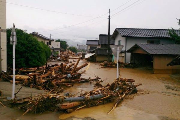 7月の九州北部豪雨で福岡県朝倉市は大きな被害を受けた(朝倉市提供)