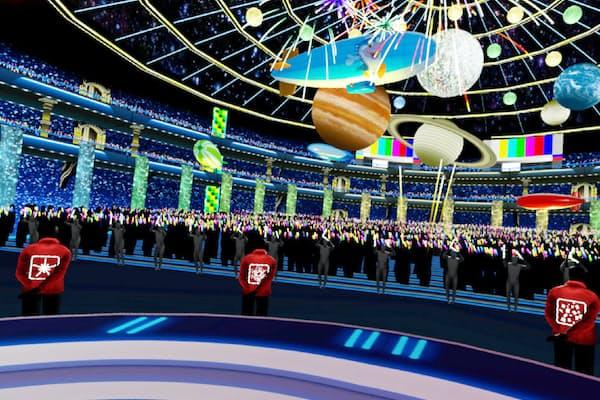 超満員のアリーナの舞台で熱唱できる(ファンタジーVRステージプラス)