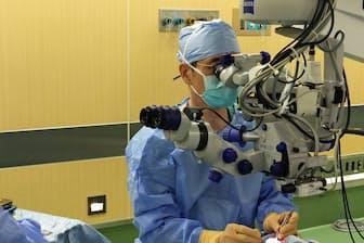 白内障だけならば日帰り手術も可能だ(倉敷中央病院、岡山県倉敷市)