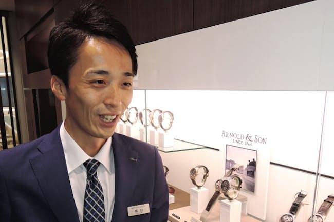 百貨店の外商と顧客回りをした経験が生きているという高田さん