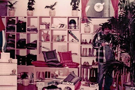 ビームスの1号店ではアメリカで買い付けた服や雑貨を売った(1970年代当時)
