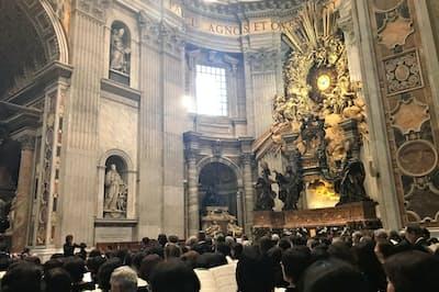 昨年11月、西本智実が「オラショ」などを指揮したサン・ピエトロ大聖堂